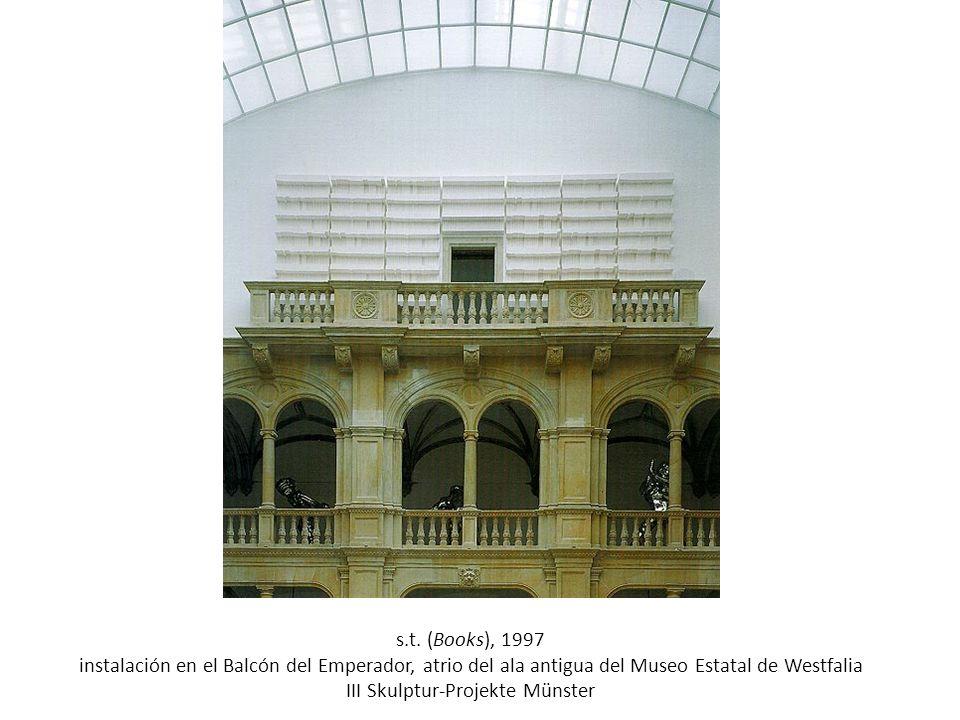 s.t. (Books), 1997 instalación en el Balcón del Emperador, atrio del ala antigua del Museo Estatal de Westfalia III Skulptur-Projekte Münster