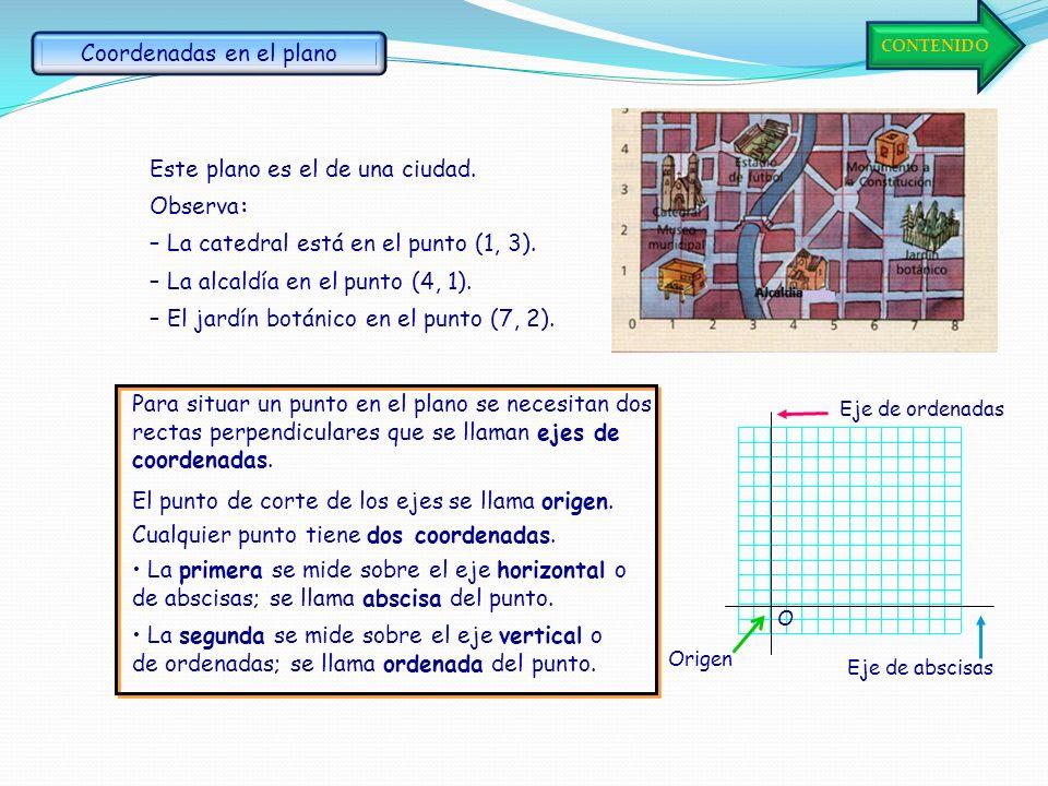 12 Coordenadas en el plano Sistema de coordenadas Relación dada por tablas 3 4 Relación dada por gráficas Relación dada por formulas 56 Idea de funció