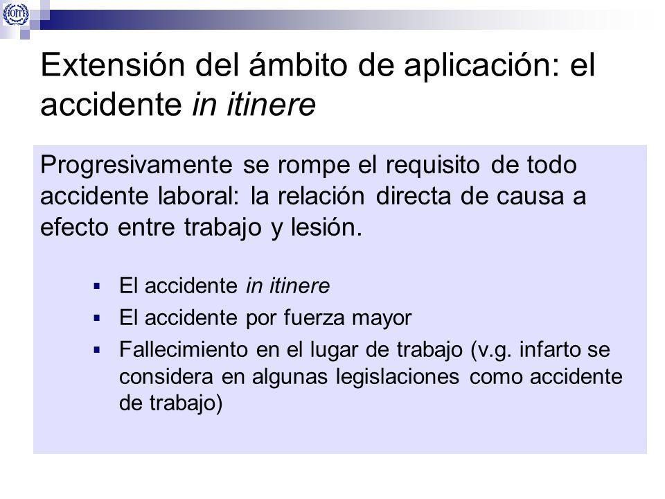Extensión del ámbito de aplicación: el accidente in itinere Progresivamente se rompe el requisito de todo accidente laboral: la relación directa de ca
