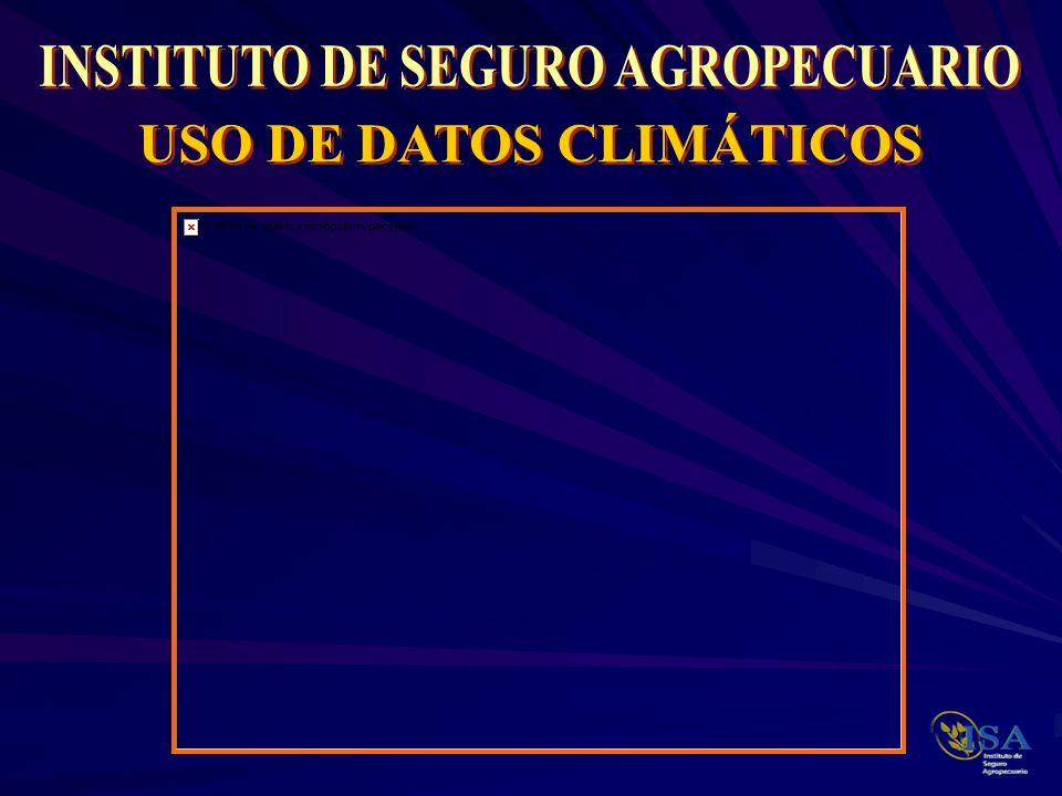 DISCUSION Qué efectos puede tener un pronóstico Climático en un programa de Seguros.