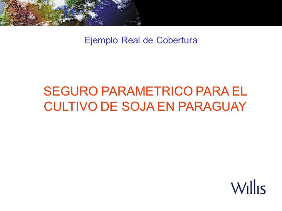 Ejemplo Real de Cobertura SEGURO PARAMETRICO PARA EL CULTIVO DE SOJA EN PARAGUAY