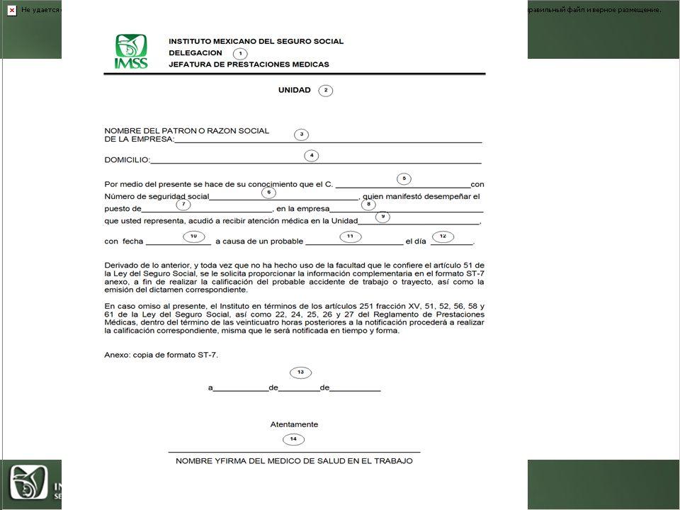 Oficio de solicitud de información complementaria al patrón