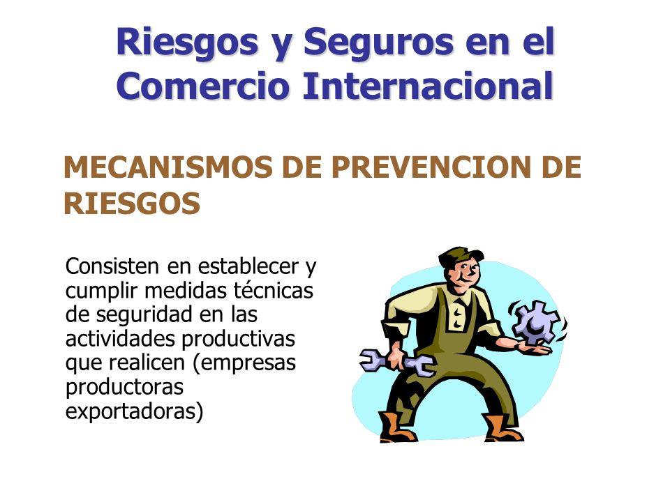 ¿CÓMO ES QUE LAS EMPRESAS SE PROTEGEN DE LOS RIESGOS? Riesgos en el Comercio Internacional