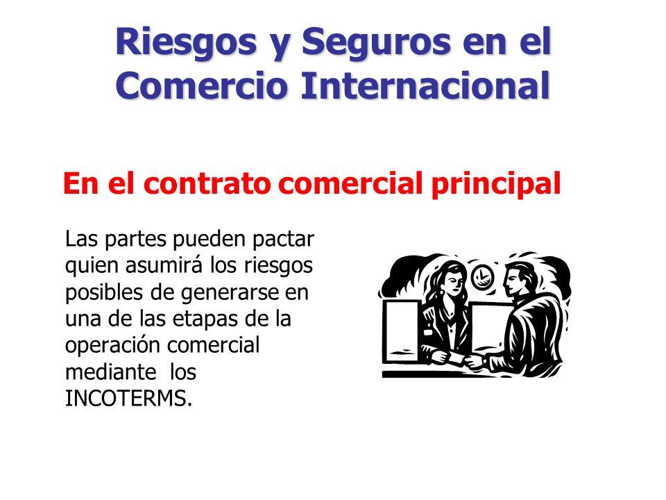 Riesgos y Seguros en el Comercio Internacional Formas de transmisión de riesgos.