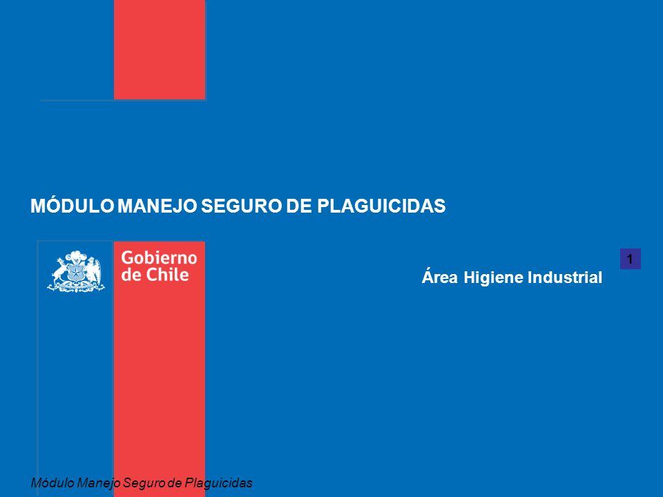 1 Área Higiene Industrial MÓDULO MANEJO SEGURO DE PLAGUICIDAS Módulo Manejo Seguro de Plaguicidas