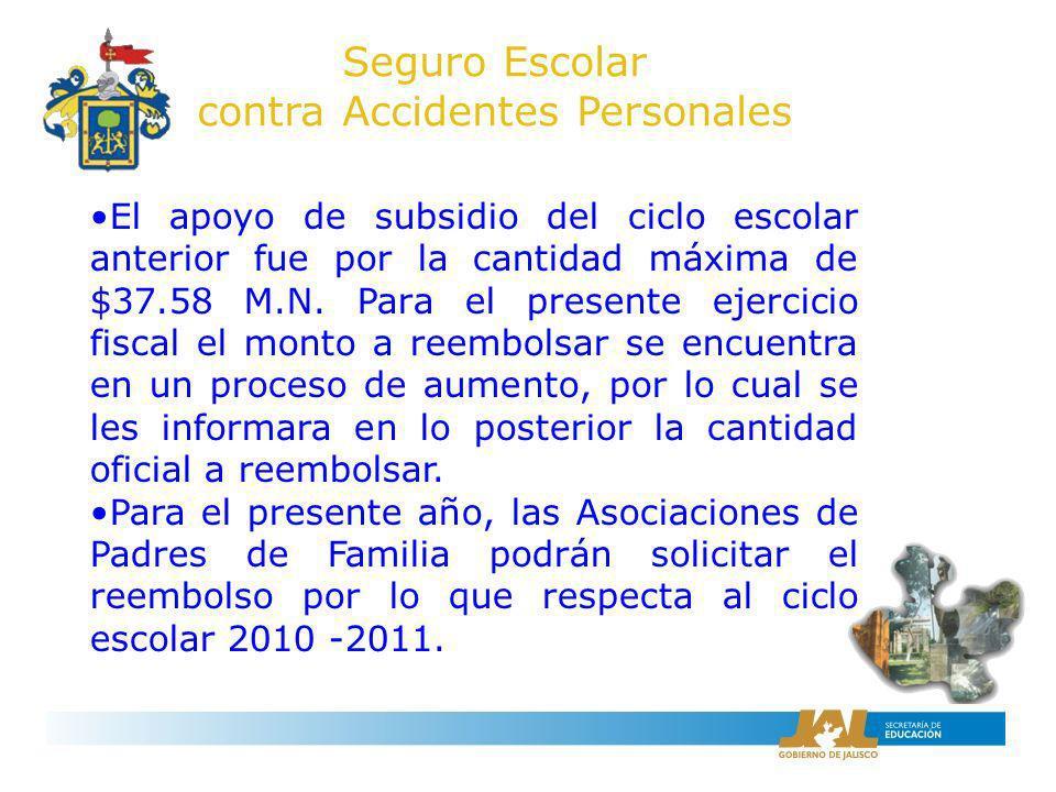 Para solicitar este apoyo, los representantes legales de la Asociación, deberán presentar para su cotejo: Original y copia del contrato del seguro.