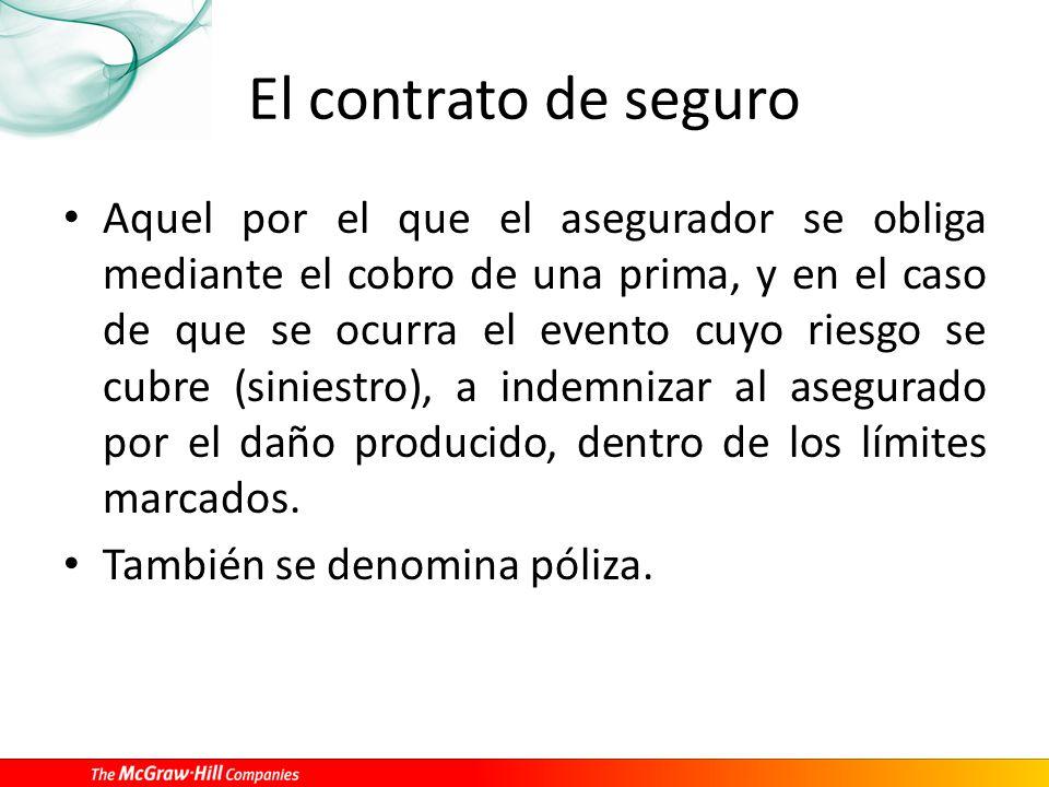 Características del contrato de seguro Escrito.Consensual.