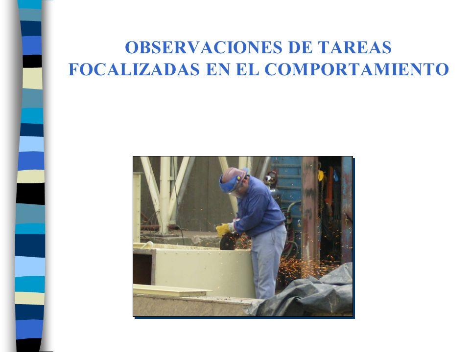 OBSERVACIONES DE TAREAS FOCALIZADAS EN EL COMPORTAMIENTO