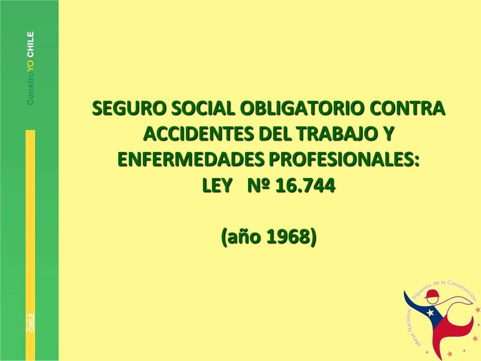 SEGURO SOCIAL OBLIGATORIO CONTRA ACCIDENTES DEL TRABAJO Y ENFERMEDADES PROFESIONALES: LEY Nº 16.744 (año 1968)