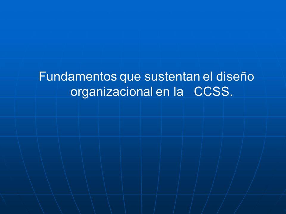 Fundamentos que sustentan el diseño organizacional en la CCSS.