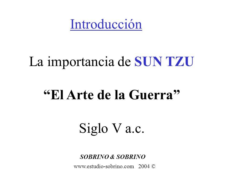 SOBRINO & SOBRINO www.estudio-sobrino.com 2004 © SUN TZU Táctica y Estrategia