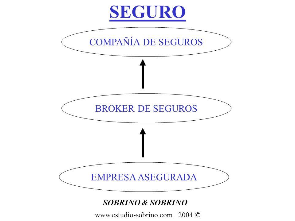 SEGURO COMPAÑÍA DE SEGUROS BROKER DE SEGUROS EMPRESA ASEGURADA SOBRINO & SOBRINO www.estudio-sobrino.com 2004 ©