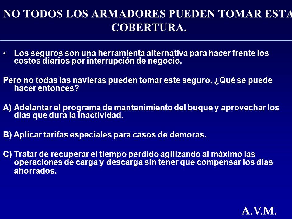 NO TODOS LOS ARMADORES PUEDEN TOMAR ESTA COBERTURA.