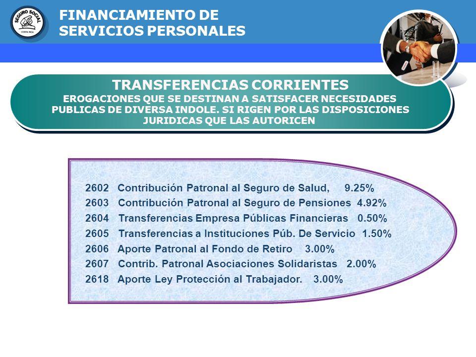 GERENCIA FINANCIERA TRANSFERENCIAS CORRIENTES EROGACIONES QUE SE DESTINAN A SATISFACER NECESIDADES PUBLICAS DE DIVERSA INDOLE. SI RIGEN POR LAS DISPOS