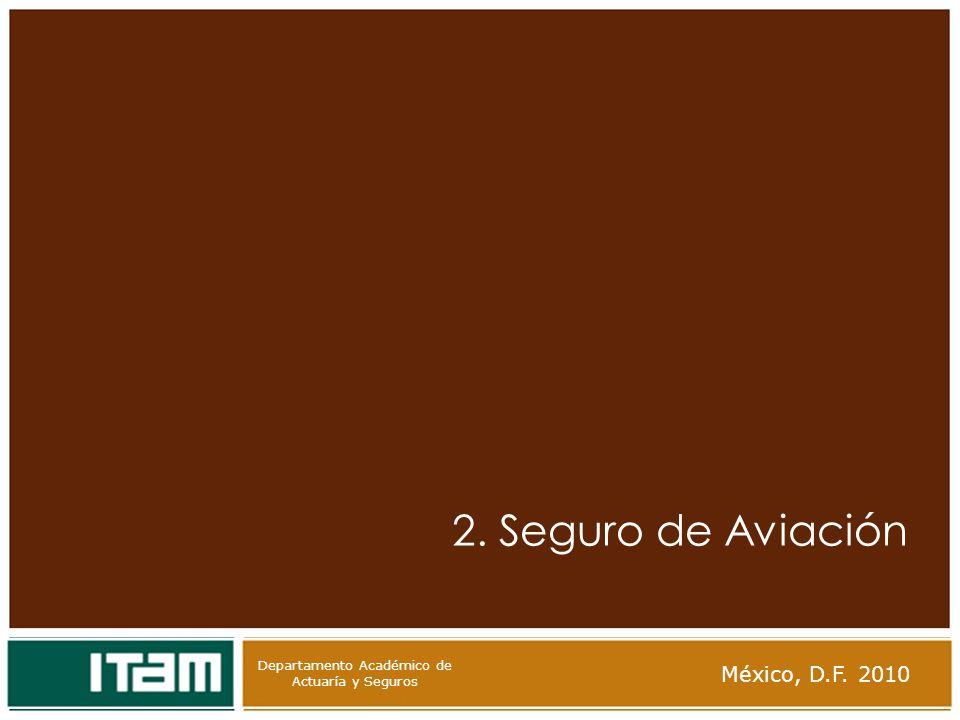 Departamento Académico de Actuaría y Seguros 2. Seguro de Aviación México, D.F. 2010 Departamento Académico de Actuaría y Seguros