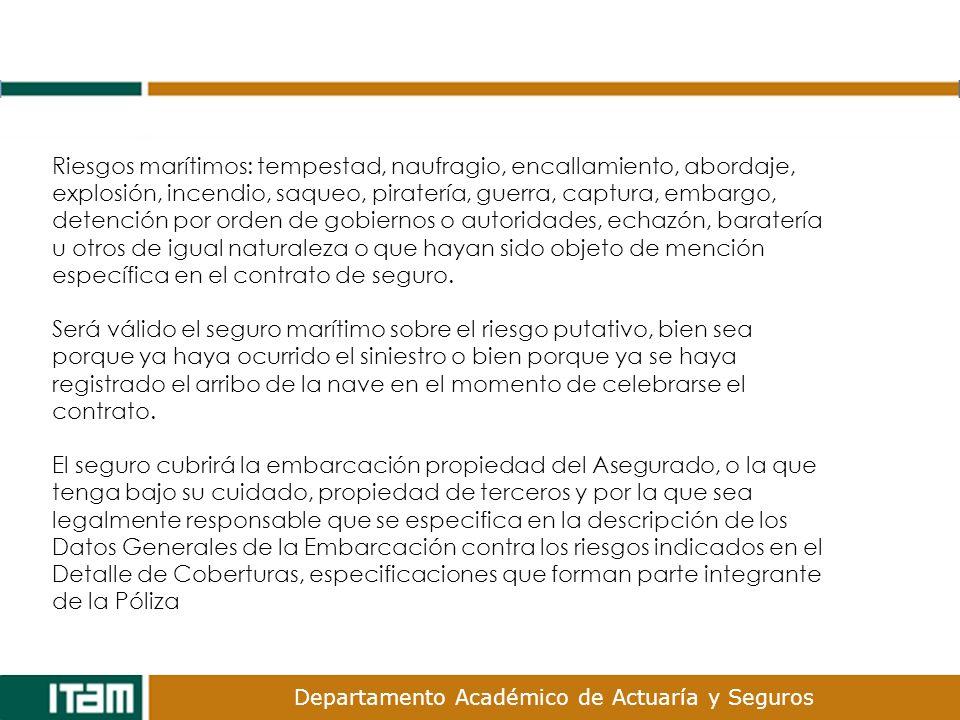 Departamento Académico de Actuaría y Seguros 2.Seguro de Aviación México, D.F.