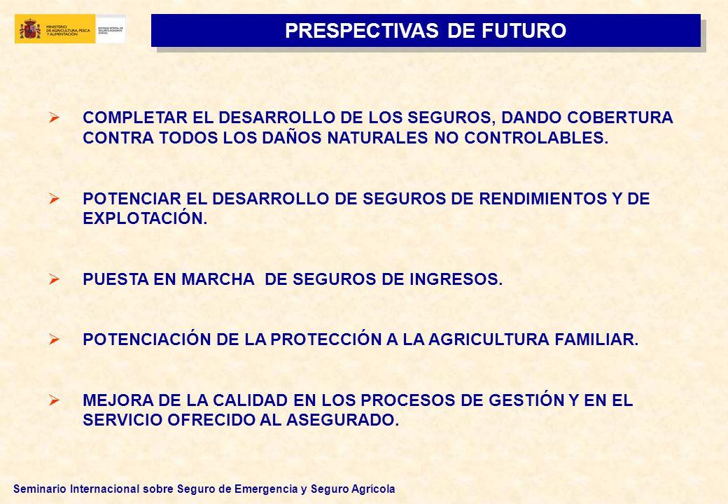 Seminario Internacional sobre Seguro de Emergencia y Seguro Agrícola COMPLETAR EL DESARROLLO DE LOS SEGUROS, DANDO COBERTURA CONTRA TODOS LOS DAÑOS NA