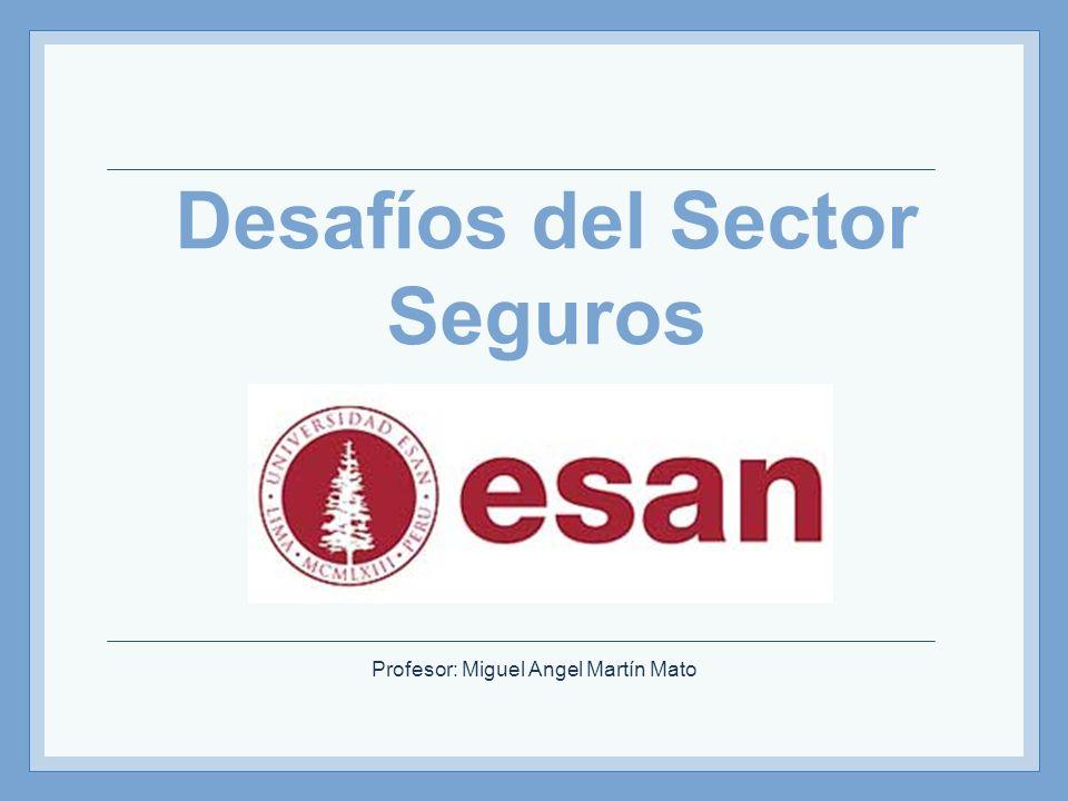 Profesor: Miguel Angel Martín Mato Desafíos del Sector Seguros