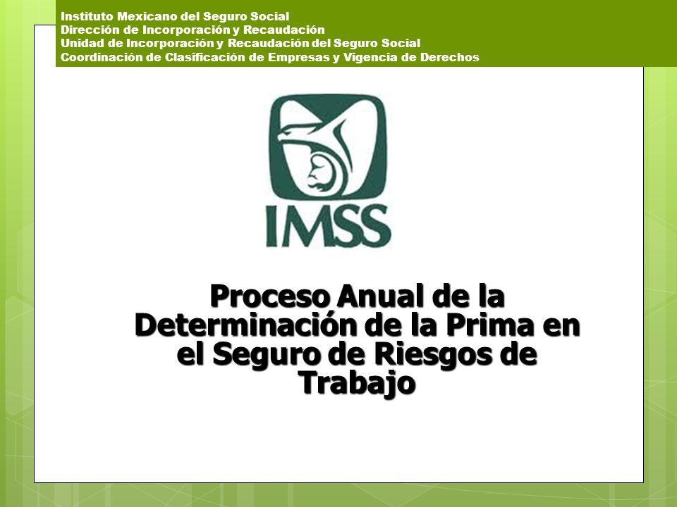 Instituto Mexicano del Seguro Social Dirección de Incorporación y Recaudación Unidad de Incorporación y Recaudación del Seguro Social Coordinación de