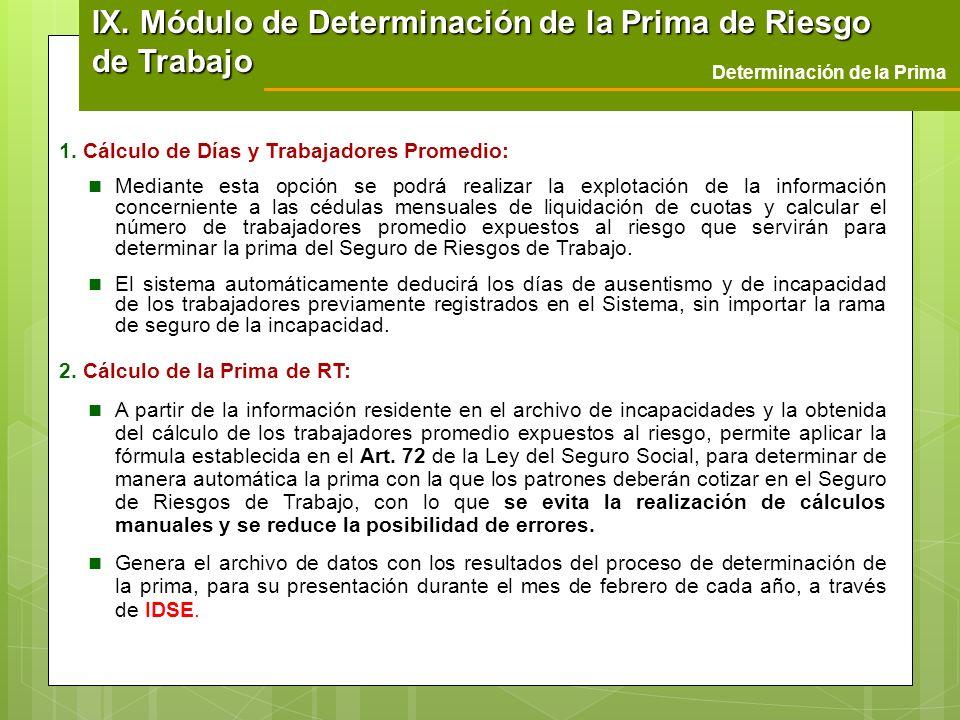1. Cálculo de Días y Trabajadores Promedio: Mediante esta opción se podrá realizar la explotación de la información concerniente a las cédulas mensual