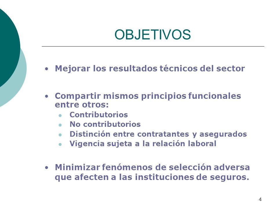 4 OBJETIVOS Mejorar los resultados técnicos del sector Compartir mismos principios funcionales entre otros: Contributorios No contributorios Distinció