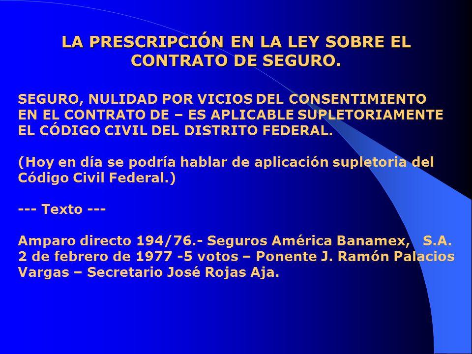 LA PRESCRIPCIÓN EN LA LEY DE PROTECCIÓN Y DEFENSA AL USUARIO DE SERVICIOS FINANCIEROS.