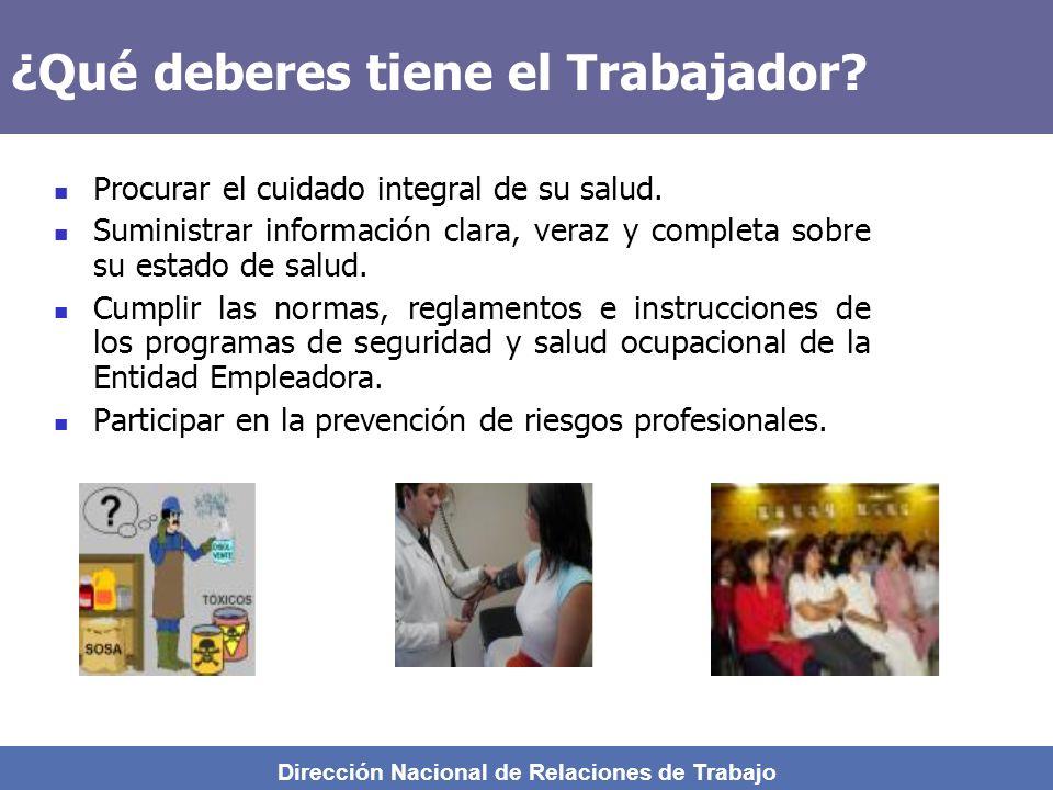 Dirección Nacional de Relaciones de Trabajo ¿ Cuáles son las enfermedades Profesionales ? 1.- Neumoconiosis causada por polvos minerales esclerógenos