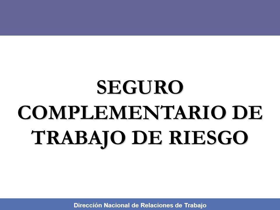 Dirección Nacional de Relaciones de Trabajo MODULO DE CAPACITACION SOBRE SEGURIDAD Y SALUD EN EL TRABAJO