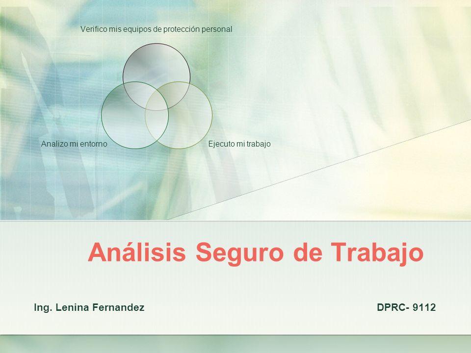 Análisis Seguro de Trabajo Ing.