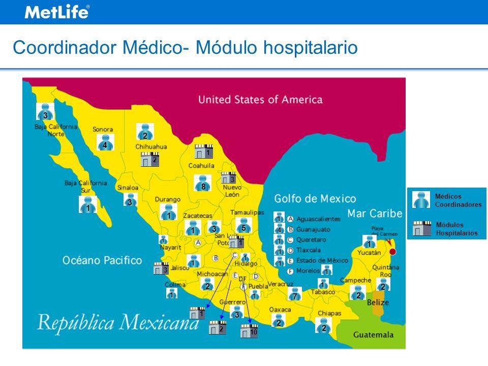 1 4 1 1 1 1 1 2 1 2 1 3 1 1 1 8 2 2 3 1 2 7 2 1 5 1 4 3 3 1 10 3 1 1 2 3 Médicos Coordinadores Módulos Hospitalarios 2 1 Coordinador Médico- Módulo ho
