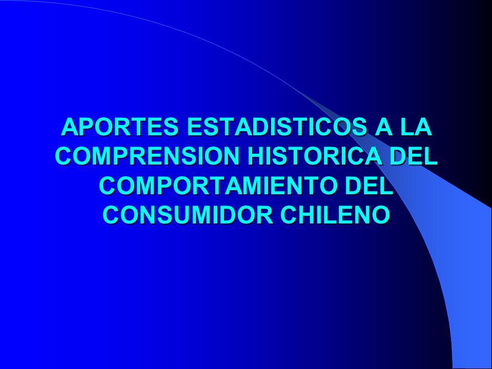 APORTES ESTADISTICOS A LA COMPRENSION HISTORICA DEL COMPORTAMIENTO DEL CONSUMIDOR CHILENO