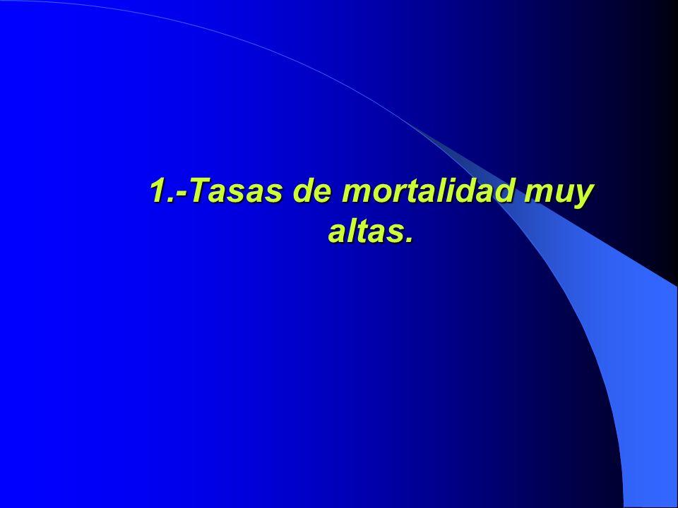 1.-Tasas de mortalidad muy altas.