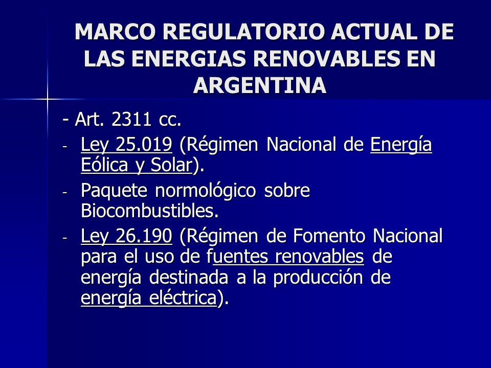 Ley 25.019 (Solar y eólica - 1998) Ley 25.019 (Solar y eólica - 1998) - Declara de interés nacional la generación de energía eléctrica de origen eólico y solar.
