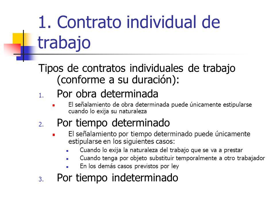 la ley de contrato de trabajo: