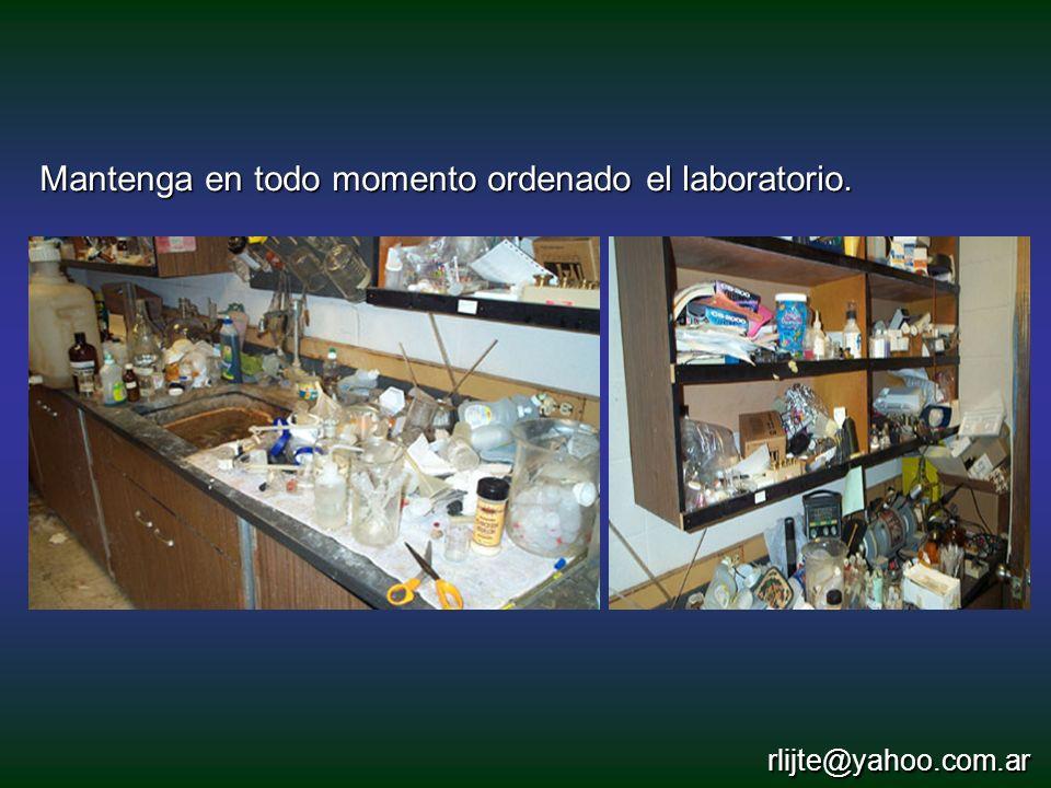 Mantenga en todo momento ordenado el laboratorio. rlijte@yahoo.com.ar