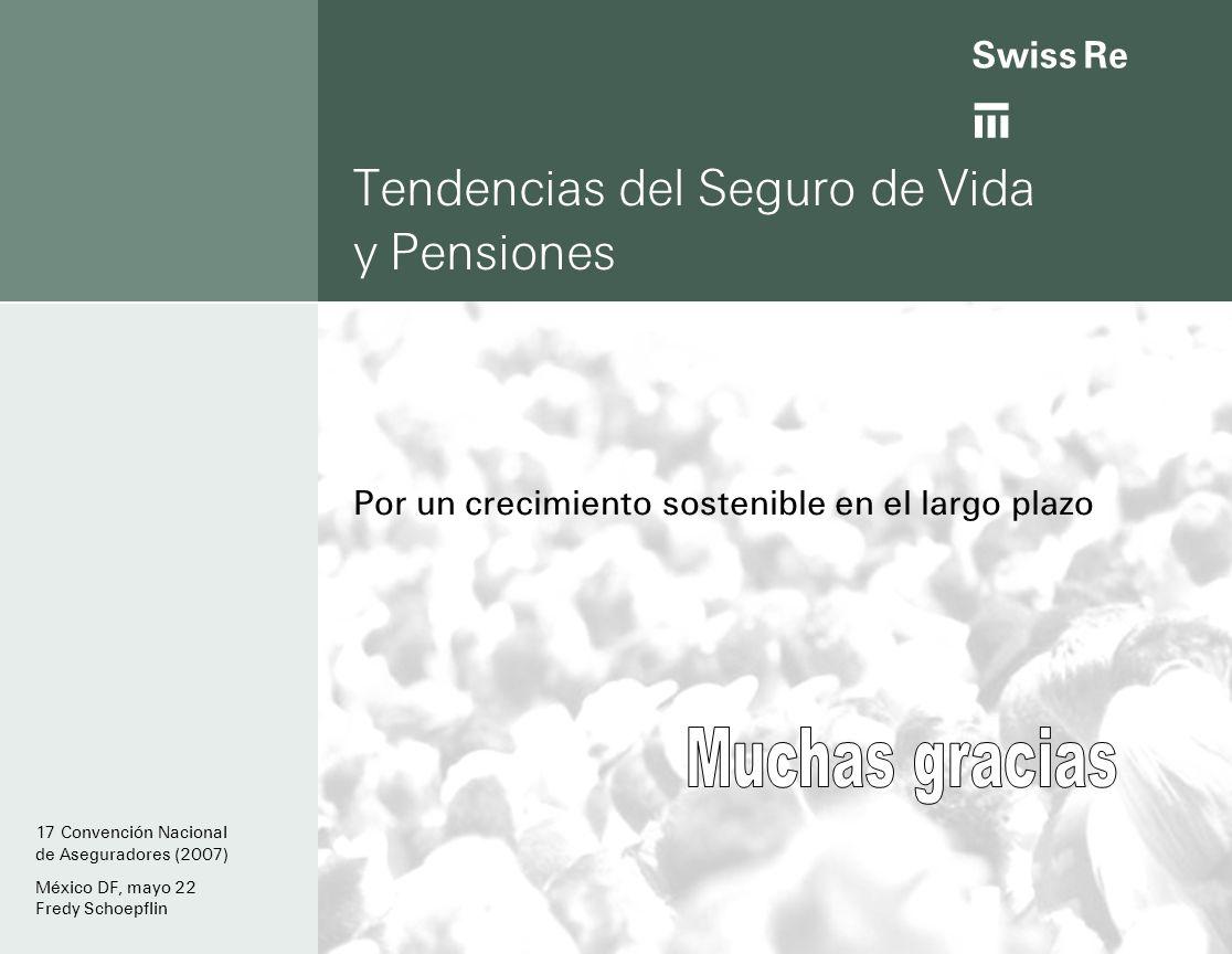 ab Tendencias del Seguro de Vida y Pensiones Por un crecimiento sostenible en el largo plazo 17 Convención Nacional de Aseguradores (2007) México DF, mayo 22 Fredy Schoepflin