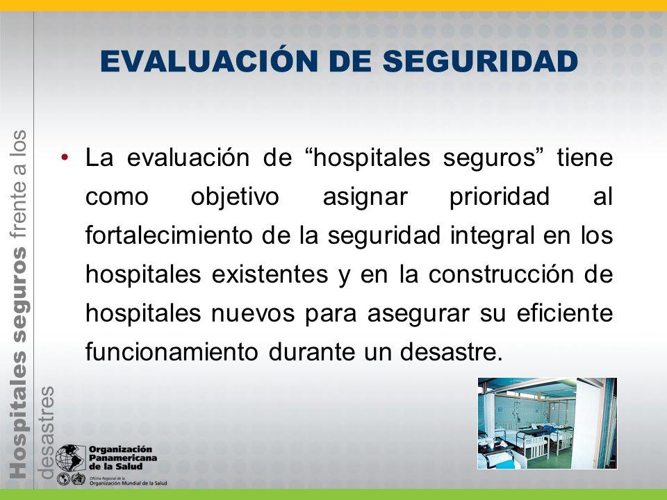 Hospitales seguros frente a los desastres Principales estrategias para implementar Hospitales Seguros Intervención de la vulnerabilidad en los estable