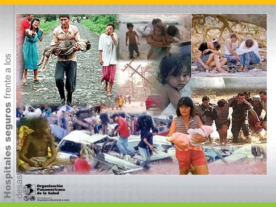 Hospitales seguros frente a los desastres COMPONENTES 1.Ubicación/contexto: geológica, hidro-meteorológica, ambiental,...