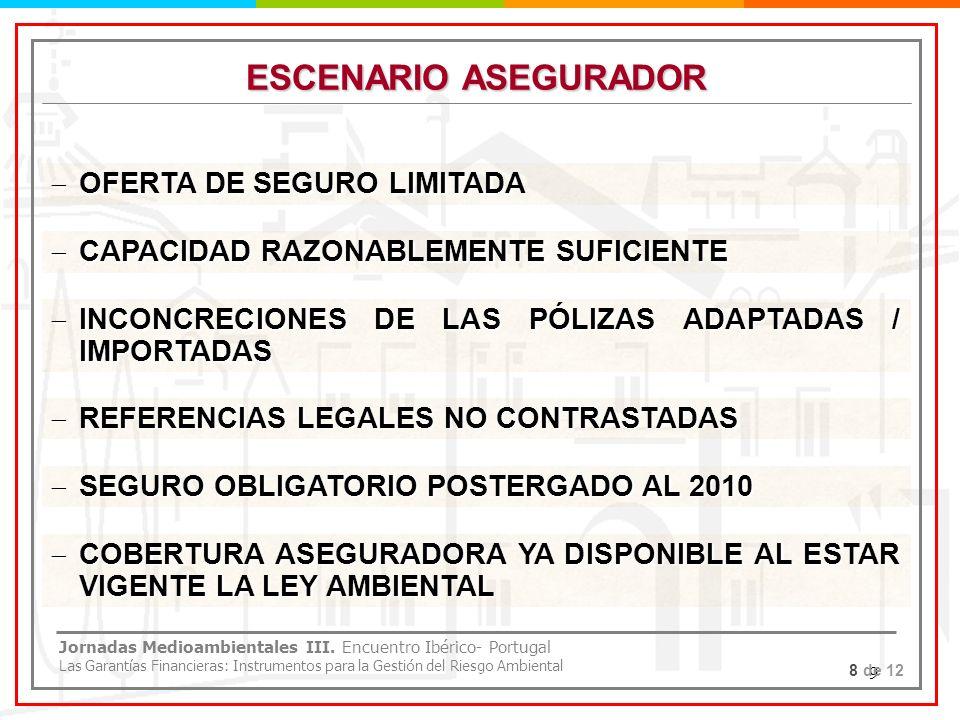 9 ESCENARIO ASEGURADOR OFERTA DE SEGURO LIMITADA OFERTA DE SEGURO LIMITADA CAPACIDAD RAZONABLEMENTE SUFICIENTE CAPACIDAD RAZONABLEMENTE SUFICIENTE INC