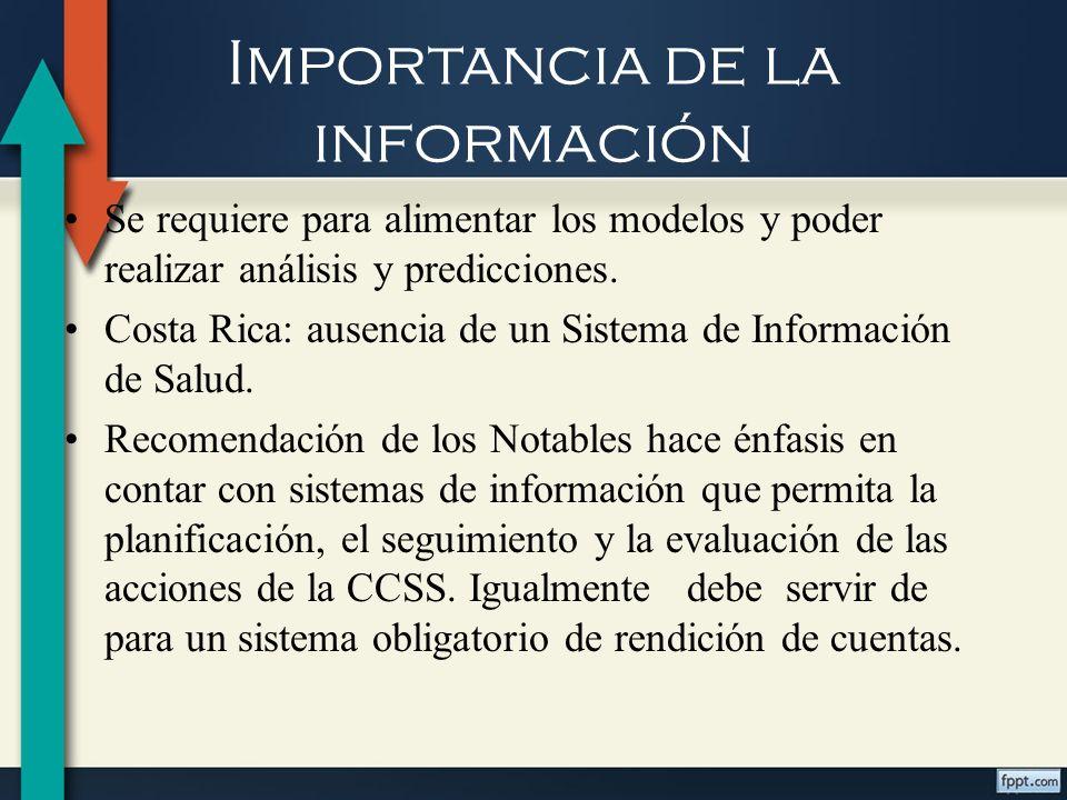 Importancia de la información Seguro de Salud carece de una información integral, eficiente y eficaz, tanto a nivel central como local, sobre todo en cuanto a los costos que implica efectuar ciertas intervenciones o programas.