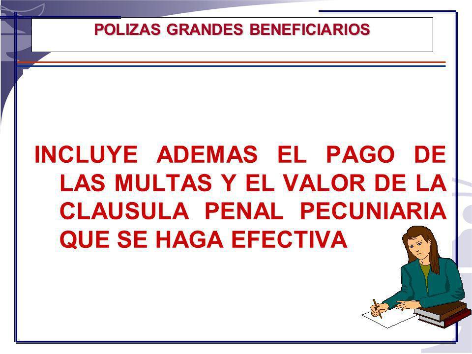 POLIZA DE CUMPLIMIENTO PARA GRANDES BENEFICIARIOS CHEC SA CONSISTE EN UNA POLIZA DE CUMPLIMIENTO, AMPARADA POR UN CONDICIONADO DISEÑADO ESPECIALMENTE