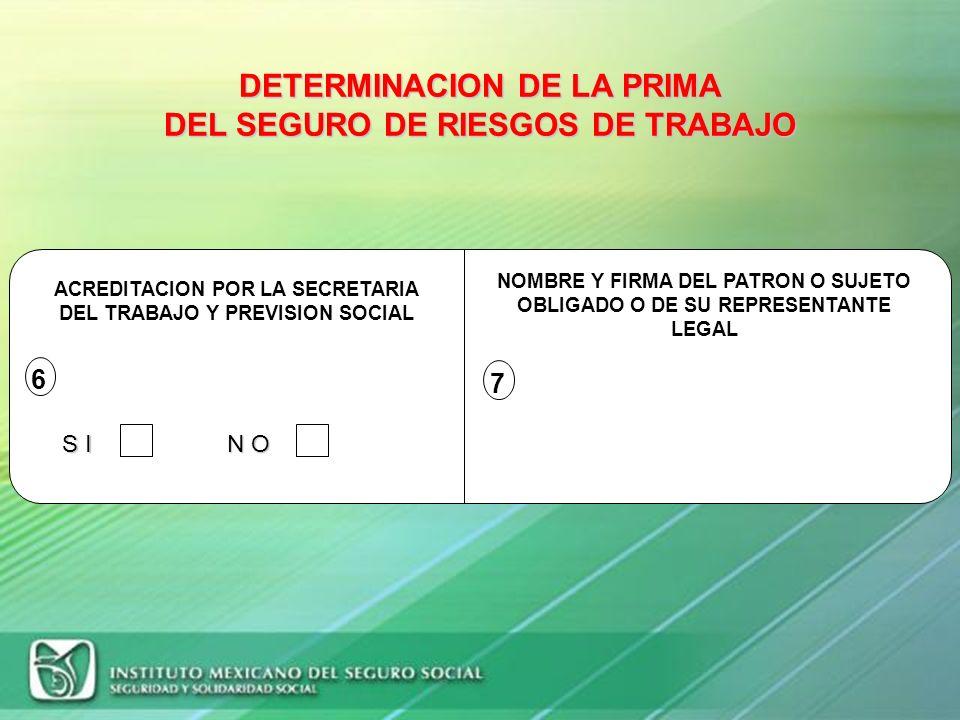 RESULTADO DE LA DETERMINACION DE LA PRIMA FORMULA: PRIMA = [ (S / 365 ) + V * ( I + D ) ] * (F / N ) + M SUSTITUCION DE VALORES: LA PRIMA DECLARADA EN
