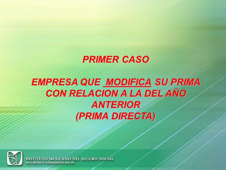 DESARROLLO DE LA FORMULA PARA DETERMINAR LA PRIMA PARA LA COBERTURA DE LAS CUOTAS DEL SEGURO DE RIESGOS DE TRABAJO CASOS PRACTICOS