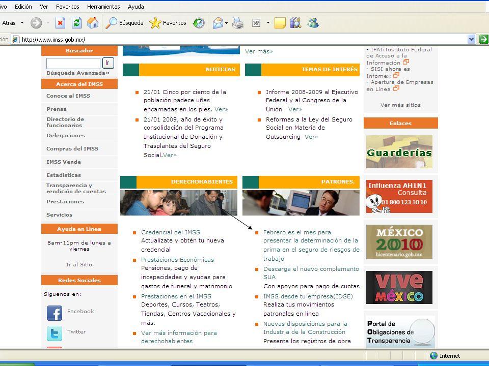 CARÁTULA DE LA DECLARACIÓN DE LA PRIMA DEL SEGURO DE RIESGOS DE TRABAJO, DERIVADA DE LA REVISION ANUAL DE LA SINIESTRALIDAD (INTERNET) www.imss.gob.mx