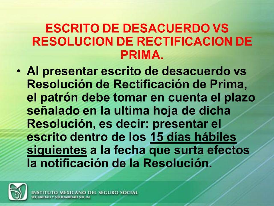 RECOMENDACIONES OPCION PRINCIPAL PARA PRESENTAR LA DETERMINACION DE PRIMA: POR INTERNET A TRAVES DEL SUA. EN CASO DE EXISTIR ERRORES INVOLUNTARIOS EN