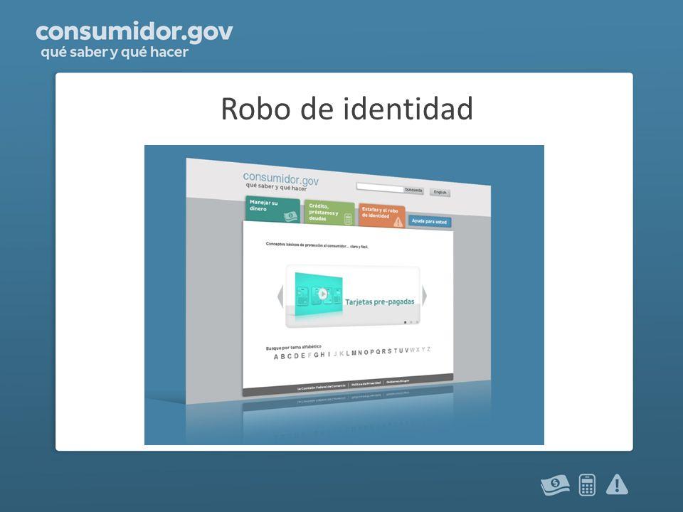 ¿Qué es el robo de identidad.Cuando alguien usa su información sin su permiso.