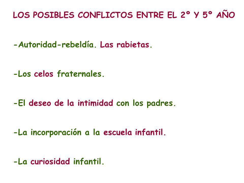 LOS POSIBLES CONFLICTOS ENTRE EL 2º Y 5º AÑO -Autoridad-rebeldía.