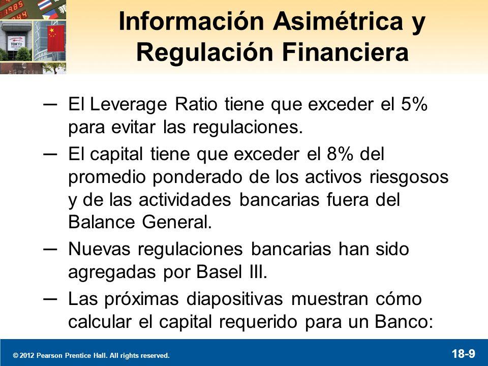 © 2012 Pearson Prentice Hall. All rights reserved. 18-10 Calculando el Capital Requerido