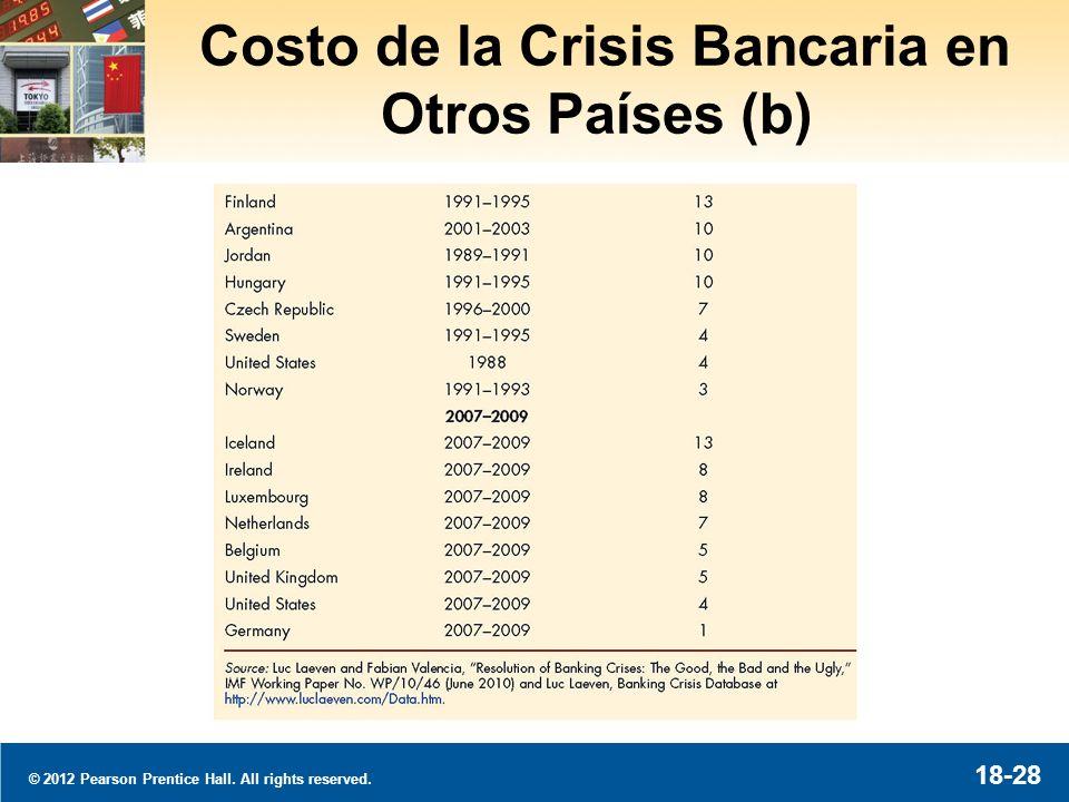 © 2012 Pearson Prentice Hall. All rights reserved. 18-29 La Crisis Bancaria a Través del Mundo