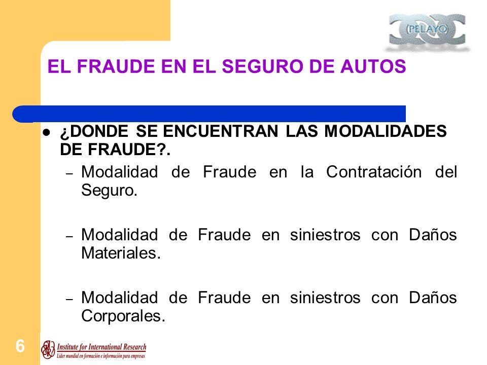 7 EL FRAUDE EN EL SEGURO DE AUTOS CUALES SON LOS PRICIPALES INDICIOS.